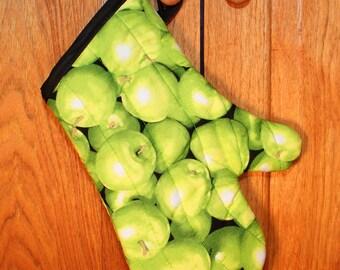 Oven Mitt, Green Apples Oven Mitt