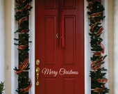 Christmas Door Decal - Small Decal - Merry Christmas Front Door  Decal - Christmas Decoration