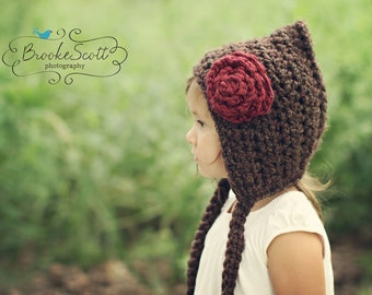 Childrens Hat, Crochet Pixie Hat, Gnome Hat, Fall Fashion, Baby Hat, Christmas Hat