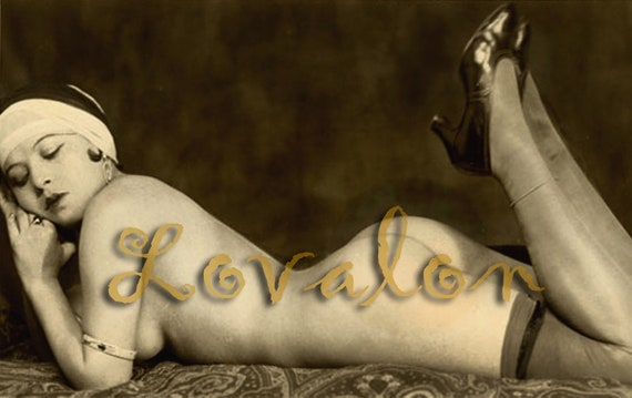 MATURE... Sultry 1930's Nude...  Instant Digital Download... Vintage Nude Photo... Erotic Photography Image by Lovalon