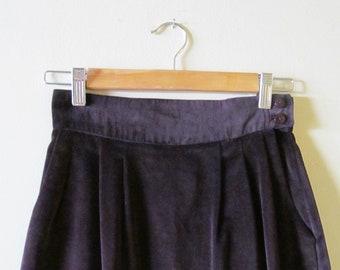 Velvet High Waist Skirt XS S 26 Waist