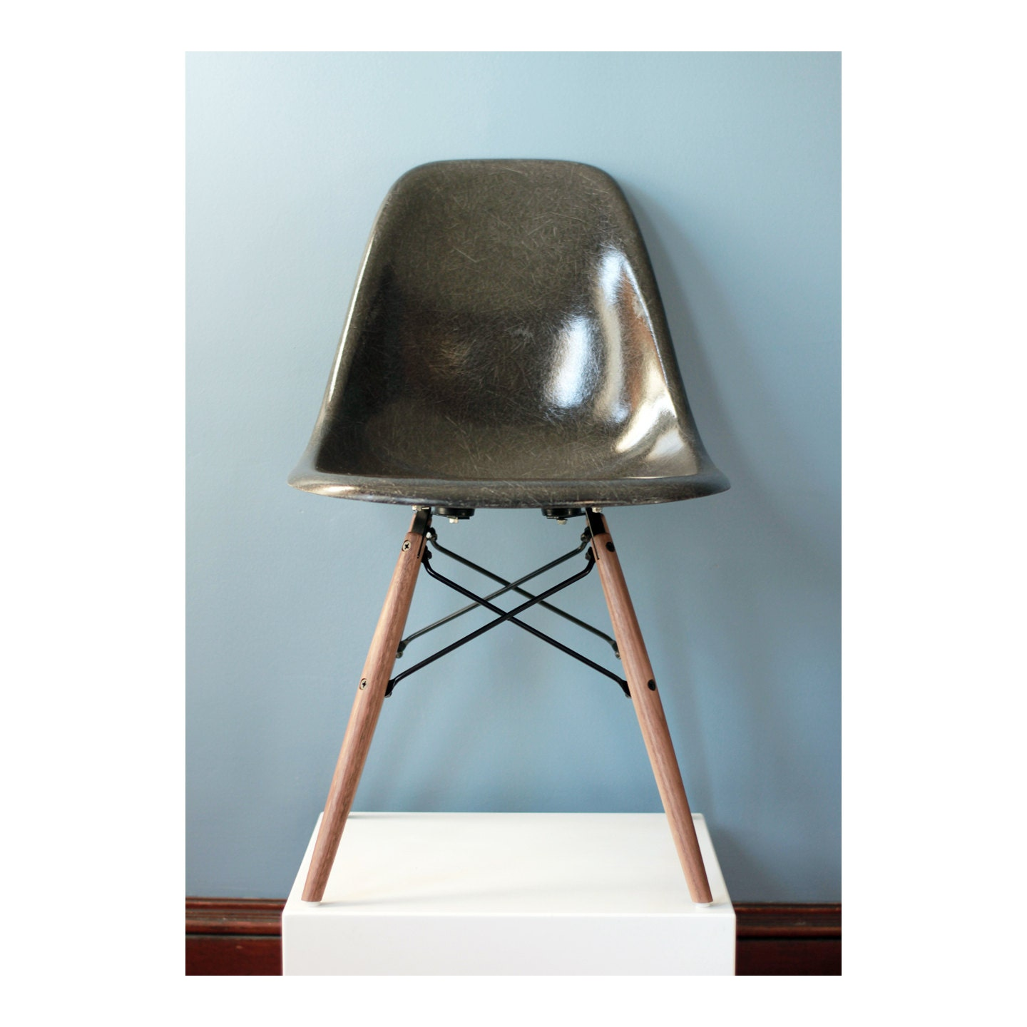 herman miller eames chair charcoal gray by thearbitrarium. Black Bedroom Furniture Sets. Home Design Ideas