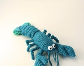 Blue Lobster - Amigurumi - Seafood - Ocean theme - CROCHET PATTERN No.55