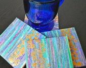 Blue Oil Pastel Coaster - Set of 4