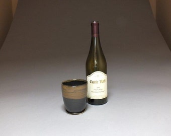 Stoneware Wine Cup in Black & Tan