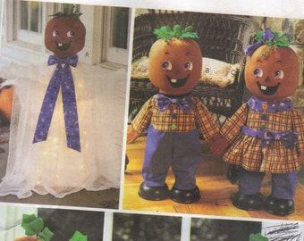 Halloween Craft Sewing Pattern Butterick Garland Pumpkin Heads Ghost Pumpkin Kids Dolls Decorations
