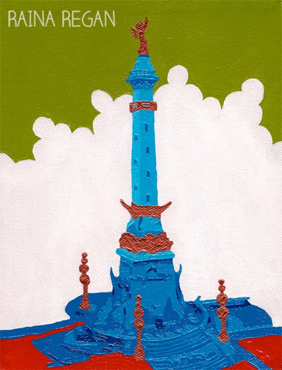 "Indianapolis Art Print 8""x10"" Indiana Soldiers' and Sailors' Monument"