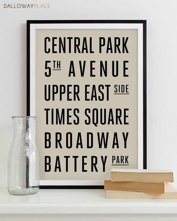 Items Similar To Subway Sign Art Bus Roll Typography