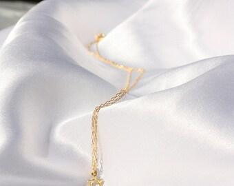 star of david - Teeny tiny gold star of david necklace - gold star of david necklace, star of david pendant,14k gold filled jewish star