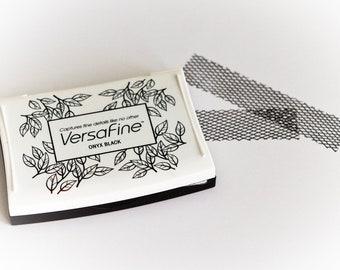 Black VersaFine ink pad Satin Onyx Black in Large