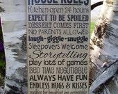 Grandma's House Rules, Grandma, Personalized, Grandpa, Grandparents, Family, Handmade, Subway, Word Art