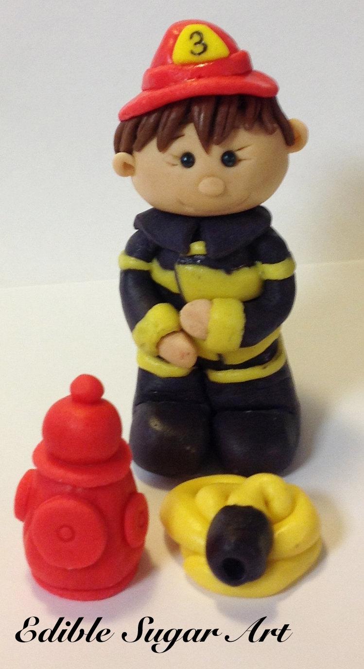 Custom Firefighter Cake Topper