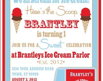 ICE CREAM PARTY invitation