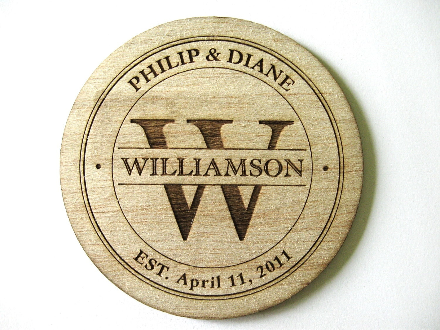 Special Listing For Vivien Balsa Wood Coasters