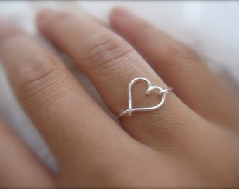 Gift - Silver Heart Ring, Silver Heart Rings, Heart Ring
