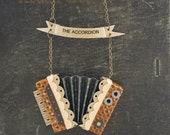 The Accordion Necklace-Unique Gift-Paper Instrument Jewelry-Paper Necklace-bybeep