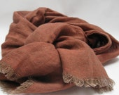linen scarf, natural linen scarf for men or women ,  free shipping , handmade by mooshop