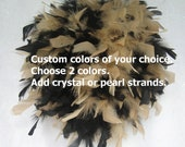 """Custom designed 8"""" to 14""""  Feather Kissing Ball, Feather Pomander,centerpiece,unique, wedding,batmitzvah,baby shower,"""