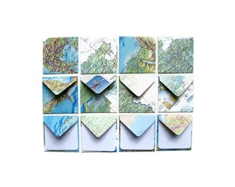 World Map, Stationery, Note Card Set, Cute Stationery, Blank Note Cards, Gifts Under 10, Mini Cards, Blank Stationery, Stationery Set