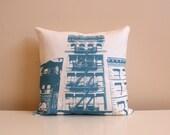 SALE - New York City Pillow - Urban Throw Style no3 - 16 x 16