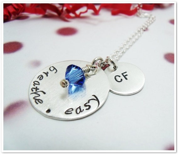 Hand Stamped Cystic Fibrosis Necklace - Brea