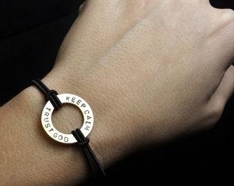 Keep Calm & Trust God . The Deb Westman Bracelet . Inspirational Bracelet . Melanoma Awareness