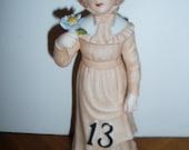 80s Enesco 13th  Birthday Teenager Girl Ceramic Figure