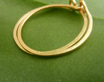 Gold Hoop Earrings, 22k Solid Gold Handmade Hoops, Urban Look Earrings, Classic Timeless Earrings, Gold Creole Earrings,