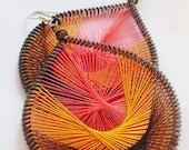 Beautiful Paradise Peruvian Silken Thread Earrings fancy earrings hoop earrings wire wrapped earrings beautiful handmade earrings