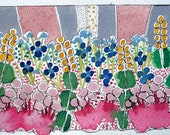 "Flower painting. ""June Flowers "" Spring Decor,Original Watercolor"