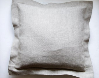 Linen pillow cover - custom color decorative covers - sham - throw pillows grey  0350