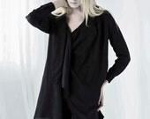SALE -Three Way to Wear Black Shirt