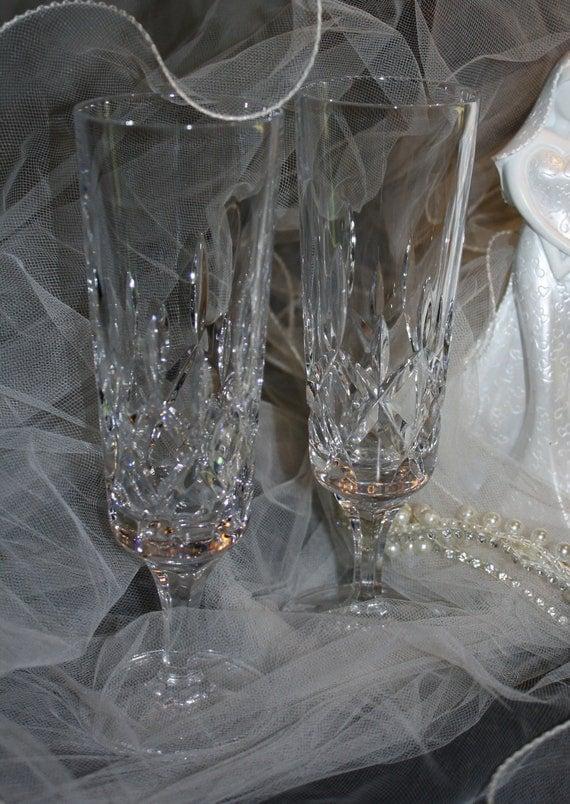 Gorham Crystal Champagne Stemware Flutes King Edward Patten