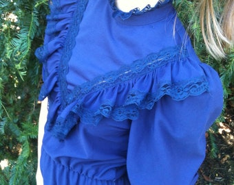 80s, goth  / Bela Lugosi's dead, indigo dress / Chelsey /  vintage / small medium