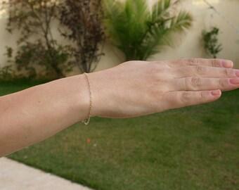 Gold bracelet, Delicate bracelet, Dainty gold bracelet, simple bracelet, Minimalist bracelet -117