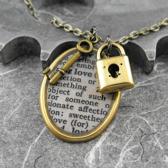 love definition lock and key brass necklace opening the. Black Bedroom Furniture Sets. Home Design Ideas