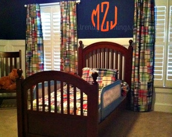 """22"""" Circle Monogram- Wooden Monogram- classic preppy wooden letters for your home, child's room, or nursery- unpainted"""