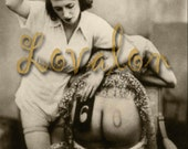MATURE... Hairbrush Spanking... Deluxe Erotic Art Print... Vintage Nude Fetish Photo... Available In Various Sizes