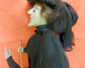 OOAK Polymer Clay Wicked Witch of the West from the Wizzard of  OZ - 12 Inches Tall - hand sculpted doll - Halloween Witch