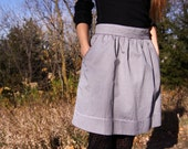 HighOver U Grey premium chambray skirt with top stitching, side pockets and accented piping