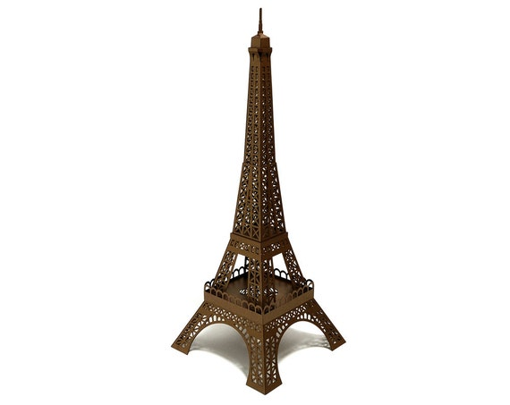 Paper landmarks for Eiffel tower model template