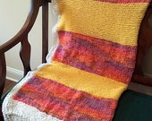 handknit SUNSHINE colors summer weight afghan