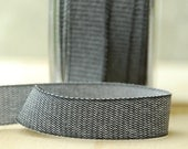 8 Yards Black Denim Ribbon Twill Tape Sewing Notion Gift Wrapping Charcoal .75 Inch