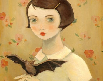 Portrait with Pet Bat Print 8x10 by Emily Winfield Martin