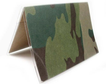 Passport Cover - Camo - camouflage passport holder - men's or unisex travel accessory, military, soldier, army, hunter