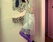 SALE Limited Edition New York Couture Pastel Victorian Love LACE Dress