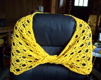 Yellow Mobius Wrap Shawl