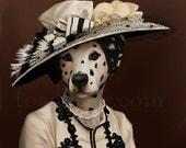 Cora Lady Grantham Dalmatian Portrait - Downton Abbey - 8x10 Signed Print