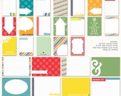 Hello Lucky Printable Journaling Cards. Instant Download.