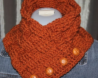 Basketweave Neck Warmer Crochet Pattern
